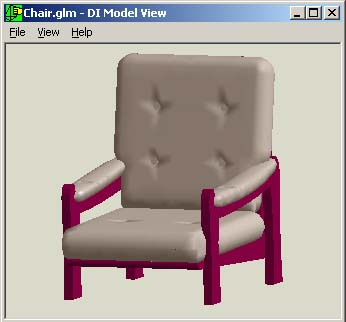 Screenshot: Char model in KernelCAD Viewer